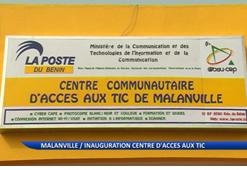 INAUGURATION CENTRE D'ACCES AUX TIC A MALANVILLE